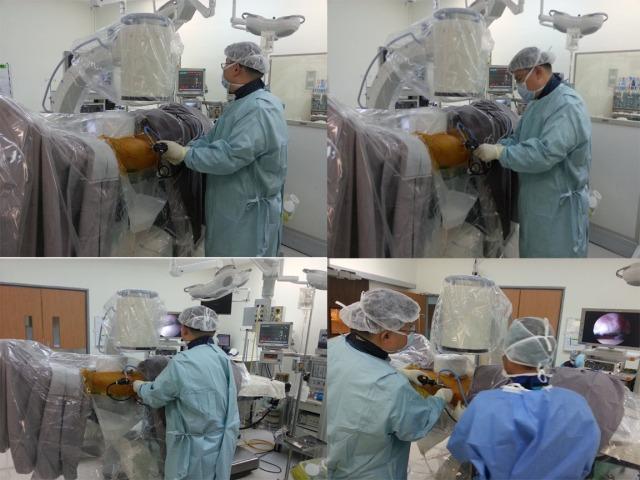 Dr HC Chang performing hip arthroscopy.